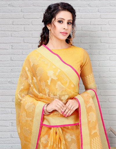 Riana Banarasi Sunshine Yellow