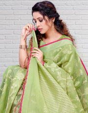 Riana Banarasi Lime Green