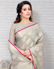 Riana Banarasi Grey Saree