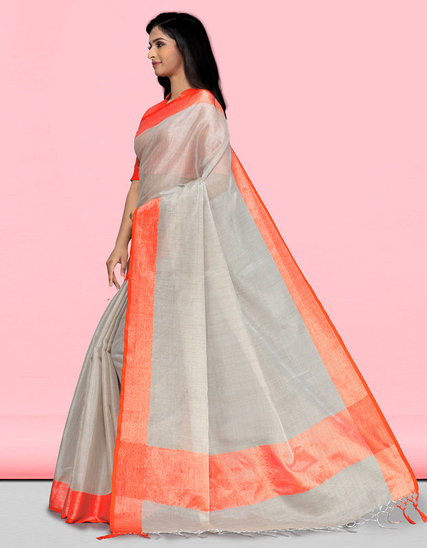 Sharvi Banarasi Tangy Orange