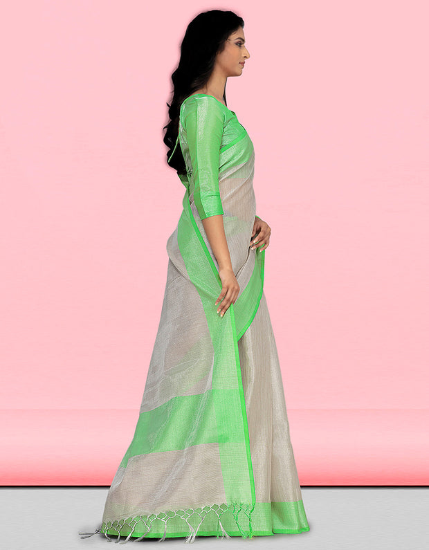 Sharvi Banarasi Green Saree
