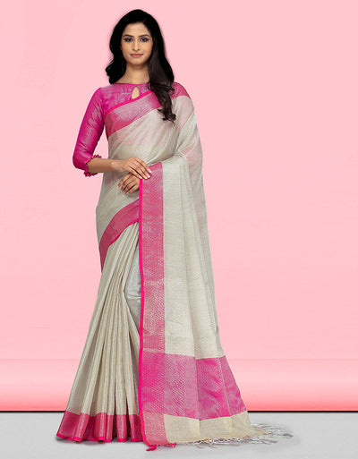 Sharvi Banarasi Pink Saree