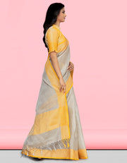 Sharvi Banarasi Yellow Saree
