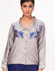 Nilophar Embroidered Shirt