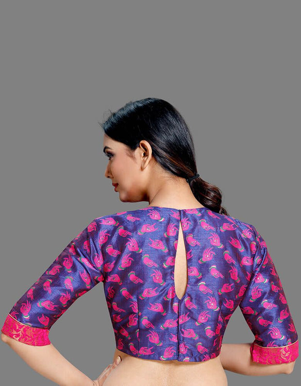 Pink Brocade Blouse