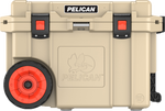 Tan 45QT Pelican Wheeled Elite Cooler