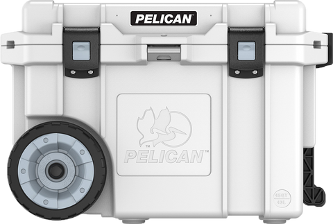White 45QT Pelican Wheeled Elite Cooler