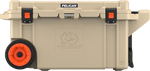 Tan 80QT Pelican Wheeled Elite Cooler