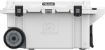 White 80QT Pelican Wheeled Elite Cooler