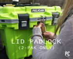 Lid Padlock. Available only in the 2-Pak Marine Cable Lock | Owned by PelicanCoolers.com