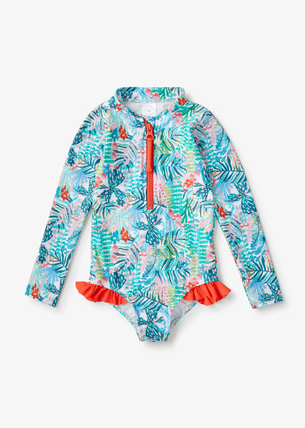Jungle Jam Long Sleeve Swimmer