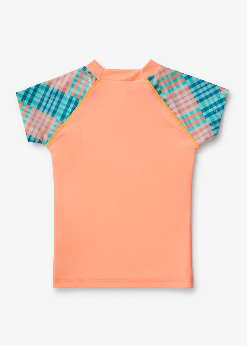 GINGHAM A' GO-GO SHORT SLEEVE SUN TOP