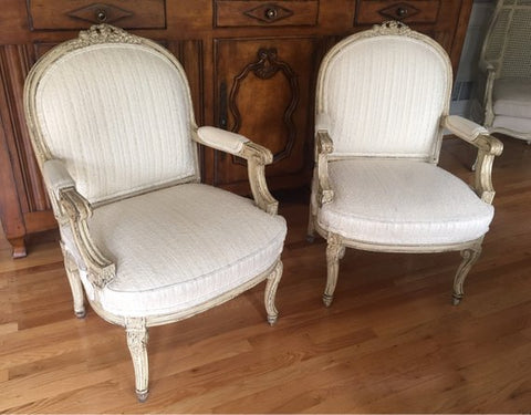 Pair of Vintage Louis XV Chairs (2)
