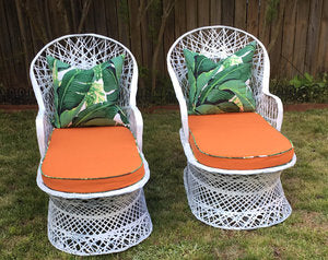 Pair of Vintage Russell Woodard Spin Fiberglass Chaise