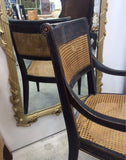 Vintage Chinoiserie Chair with Cane Seat