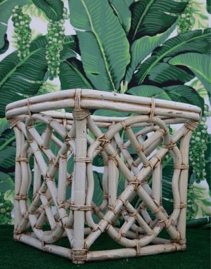 Vintage Rattan Chinese Chippendale Base