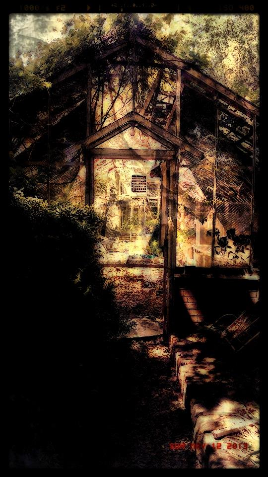 Maeltopia Digital Art by Mark Anzalone titled The Snickers Lady's House. Image of a creepy house.