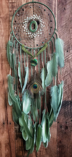 Green Earth Goddess Dream Catcher