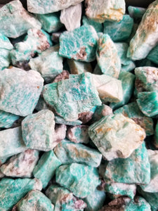 Amazonite Rough Stones for Harmony