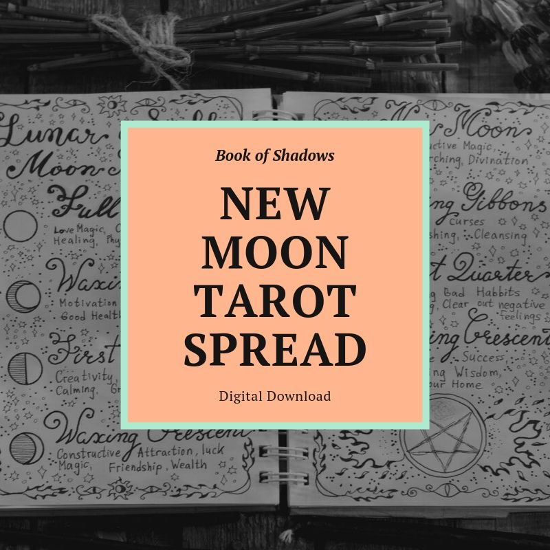 New Moon Tarot Spread Book of Shadows Page (Digital Download)