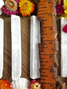 Selenite Higher Chakra Wand