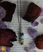 Chakra Necklace Hand Wrapped with Crystal Beads - Amethyst, Lapis, Turquoise, Aventurine, Citrine, Carnelian, & Garnet