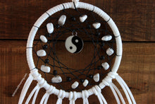 Black and White Yin Yang Dream Catcher with White Howlite Beads