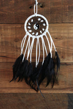 Small Black and White Yin Yang Dream Catcher with White Howlite Beads