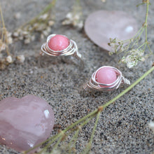 Ring // Wire Wrapped // Rose Quartz // Handmade