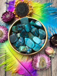 Chrysocolla Tumbled Stone for Peace