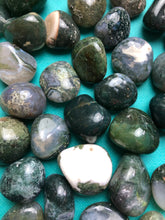 Moss Agate Tumbled Stone for Harmony
