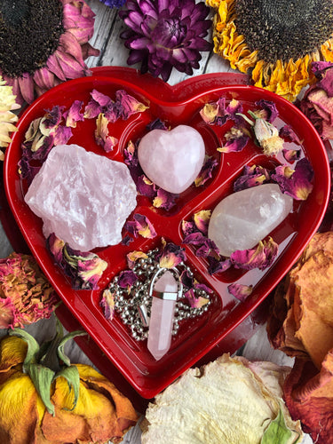 Lovers Rose Quartz Crystal Kit