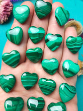 Malachite Mini Hearts