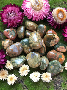 Rhyolite Tumbled Stone For a Positive Perspective