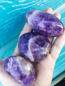Amethyst Palm Stones for Stress Relief