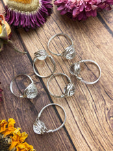Clear Quartz Faceted Wire Wrapped Ring