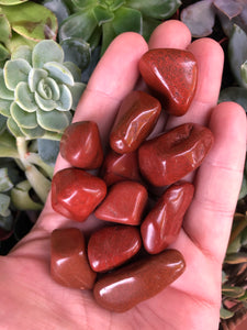 Red Jasper Tumbled Stones for Stimulating Chi Energy