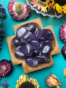 Amethyst Tumbled Stone for Spiritual Protection