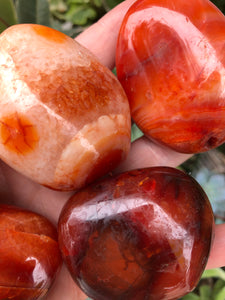 Carnelian Palm Stones For Motivation & Creativity
