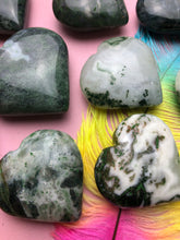 Moss Agate Heart for Friendship & Love