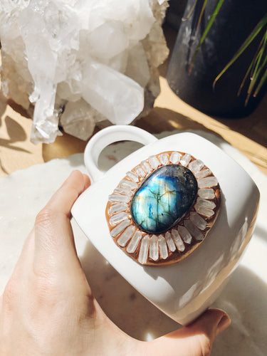 New Moon Labradorite Crystal Mug