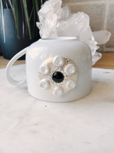 Black Onyx and Herkimer Diamond Mug