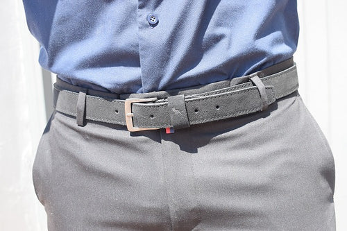 Black Suede Belt - TheModernMan
