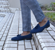 Load image into Gallery viewer, Navy Bear Loafer