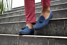 Load image into Gallery viewer, Navy Bear Loafer - TheModernMan