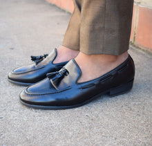 Load image into Gallery viewer, Black Leather Loafer - TheModernMan