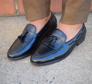 Black Leather Loafer - TheModernMan