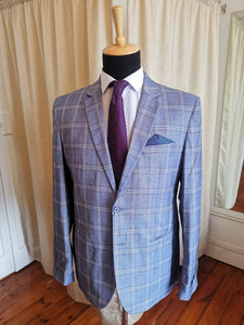 Light Blue Checked Coat