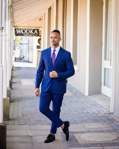 Navy Pin-stripe suit