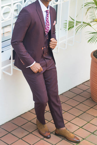 Maroon 3 Piece Suit - TheModernMan